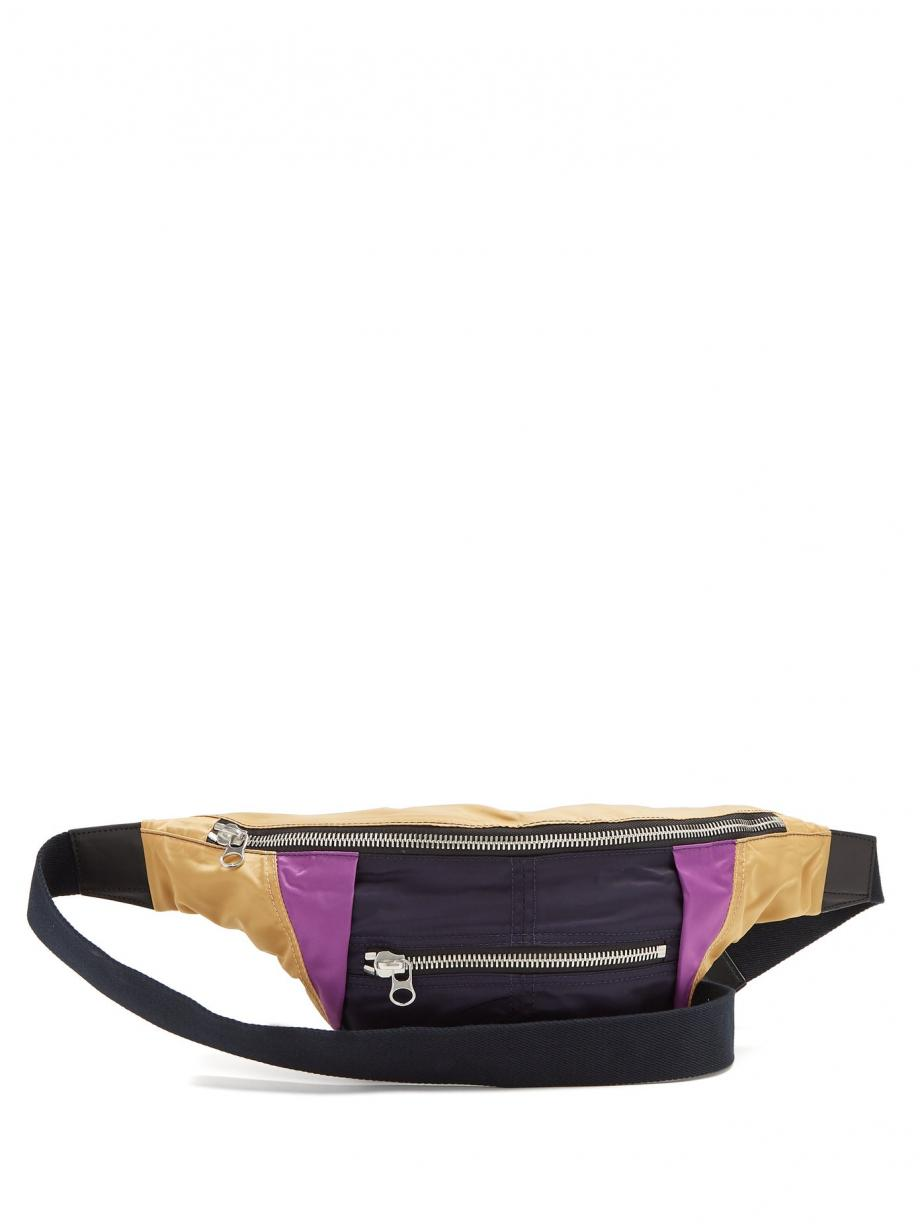 Blue BeltBags – Isabel Marant Womens Noomi tri-colour belt bag Navy