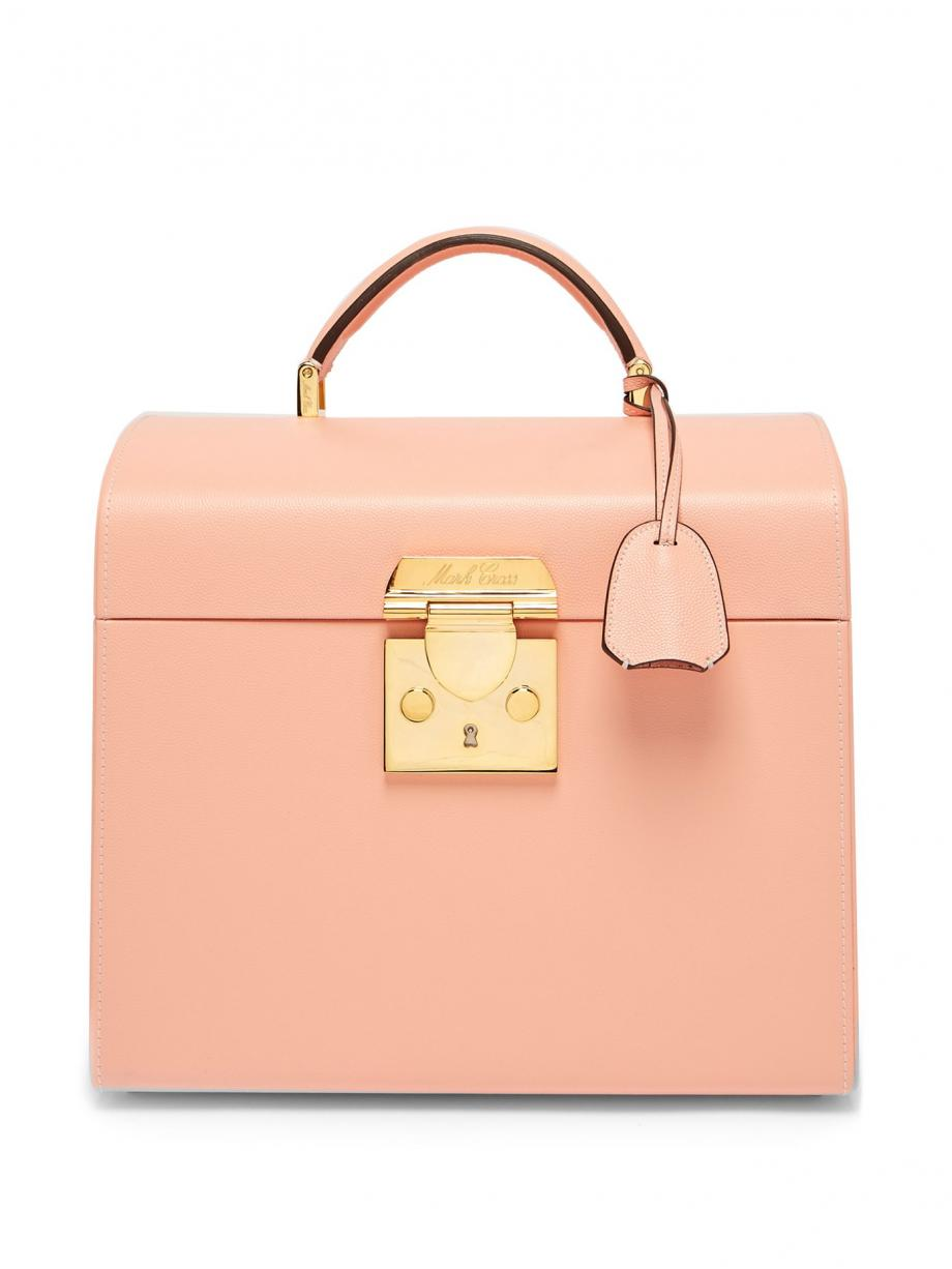 Pink TravelBags – Mark Cross Womens Sara leather beauty case Light-pink